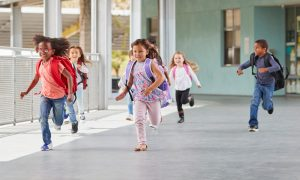 Picture of kids running