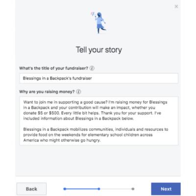 Step 4 Facebook Fundraiser