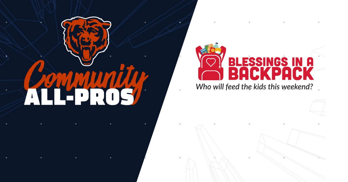 Chicago Bears to Honor Blessings in a Backpack as Community All-Pro at Sept. 29 Game