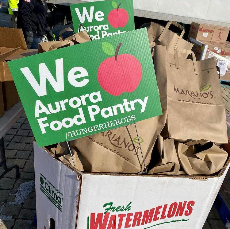 Aurora Area Interfaith Food Pantry's mobile pantry drive-thru in Crest Hill October 16